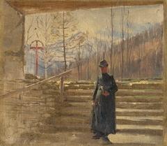 Study of Walking Priest