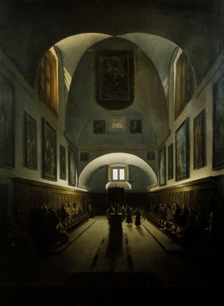 The Choir in the Capuchin Church on the Piazza Barberini, Rome