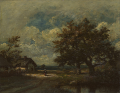 The Cottage by the Roadside, Stormy Sky