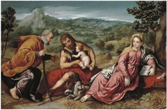 The Holy Family in a Landscape with John the Baptist