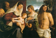 The Holy Family with St. Catherine, St. Sebastian and a Donor