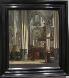 The Interior of the Nieuwe Kerk, Amsterdam, with a Sermon in Progress