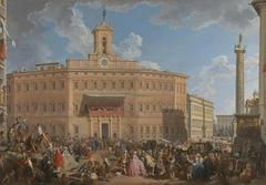The Lottery in Piazza di Montecitorio