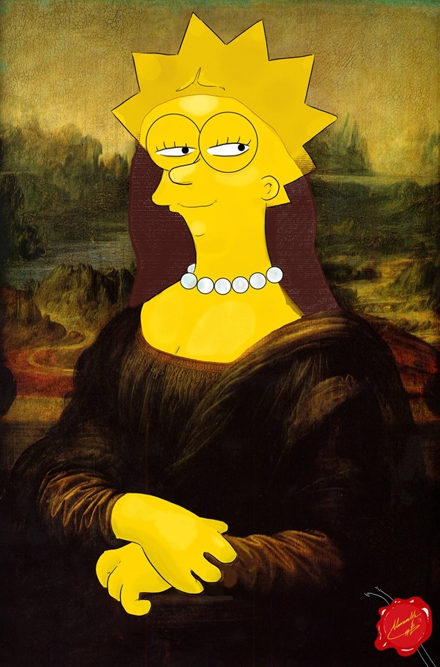 The Mona Lisa Simpsons