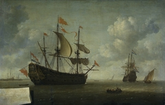 The Running In of the English Flagship 'The Royal Charles', captured during the Raid on Chatham, June 1667