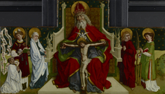 The Trinity with the Virgin, Saints John the Evangelist, Stephen and Lawrence and a Donor