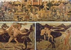Three panels adorning a Wedding Cassone