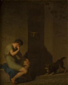 Tibullus Lamenting outside the Door of his Beloved