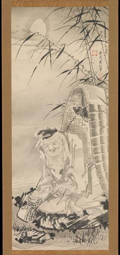 Tōkaibō with a Fishing Basket