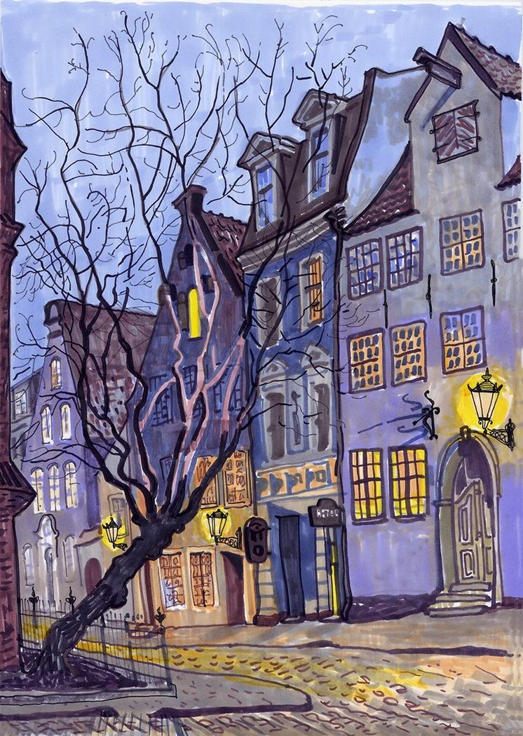 Twilight in Riga