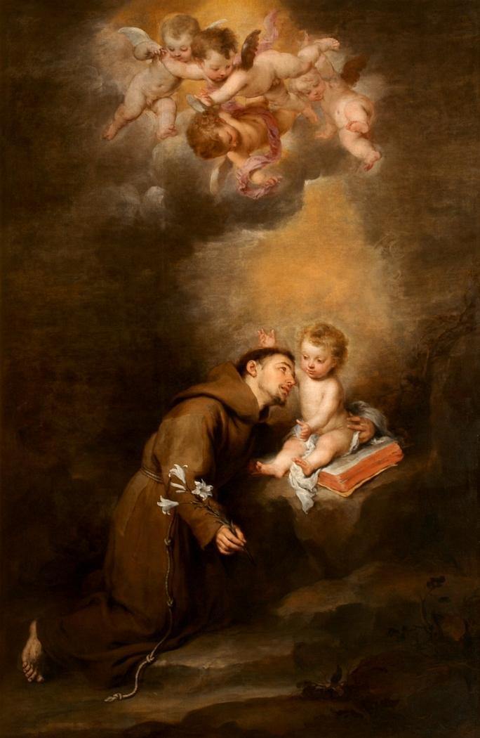 "Saint Anthony of Padua with the Child"" Bartolomé Esteban Murillo ..."