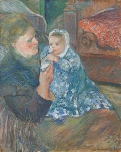 Julie Pissarro Et Son Fils Ludovic-Rudolphe Dit Rodo