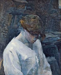 La Rousse in a White Blouse