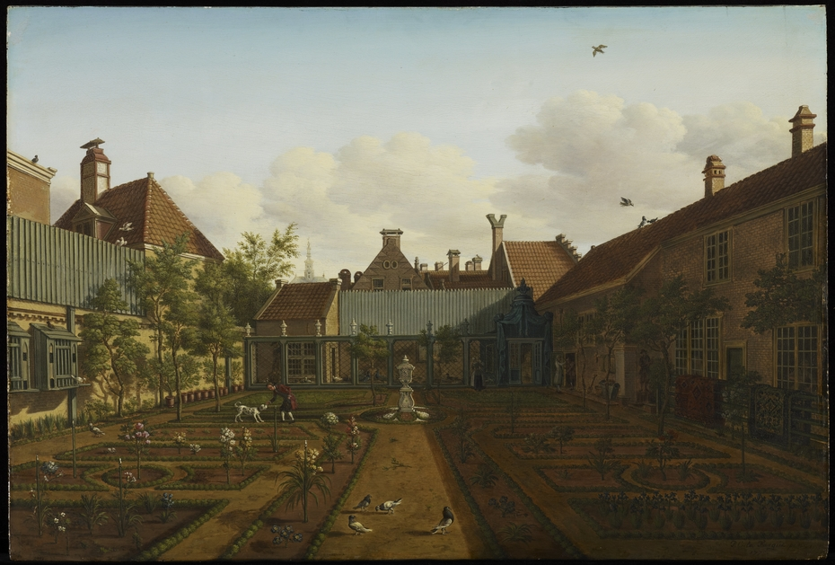 View of a Town House Garden in The Hague