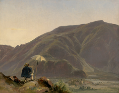View of Bozen with a Painter