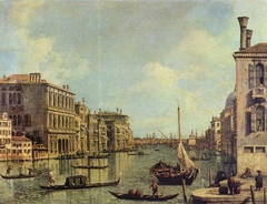 View of the Grand Canal toward the Punta della Dogana