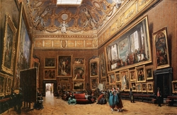 View of the Salon Carré in the Louvre
