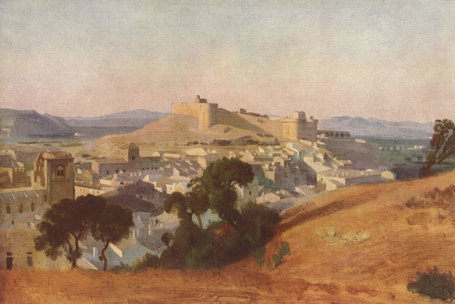 View of Villeneuve-lès-Avignon, Saint-André Castle