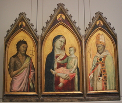 Virgin and Child with Saints John the Baptist and Giles, Two Prophets, and Christ the Redeemer