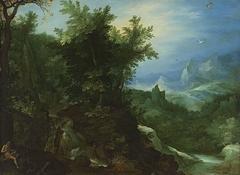 Waldlandschaft mit dem hl. Hieronymus und Hans Rottenhammer