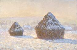 Wheatstacks, Snow Effect, Morning (Meules, Effet de Neige, Le Matin)