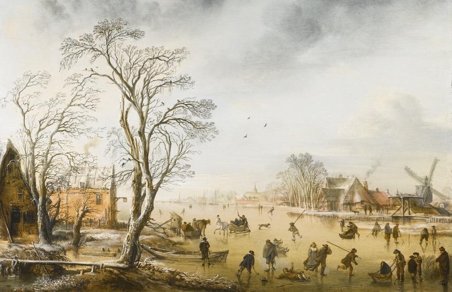 Winter Landscape with Kolf Players