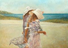 «Θαλασσινή αύρα», 70 x 100 cm,oil on canvas.