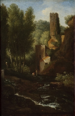 A classical landscape with cascade