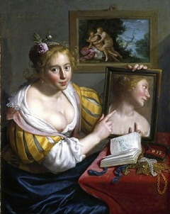 A girl with a mirror, an allegory of Profane Love