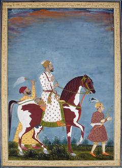 A Muslim nobleman on a dappled stallion