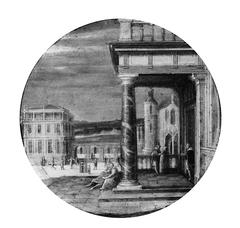 A Renaissance Portico with Elegant Figures