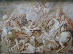 Allégorie de l'Autriche catholique attaquée par les protestants