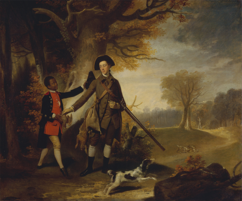 An Unknown Man, perhaps Charles Goring of Wiston (1744-1829), out Shooting with his Servant