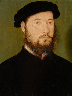 An Unknown Man with a Red Collar