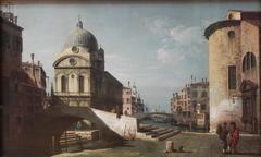 Architectural fantasy with Santa Maria dei Miracoli, Venice