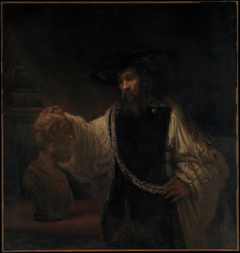 Aristotle Contemplating a Bust of Homer