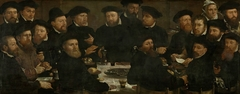 Banquet of Eighteen Guardsmen of Squad L, Amsterdam 1566, known as 'The Perch Eaters'