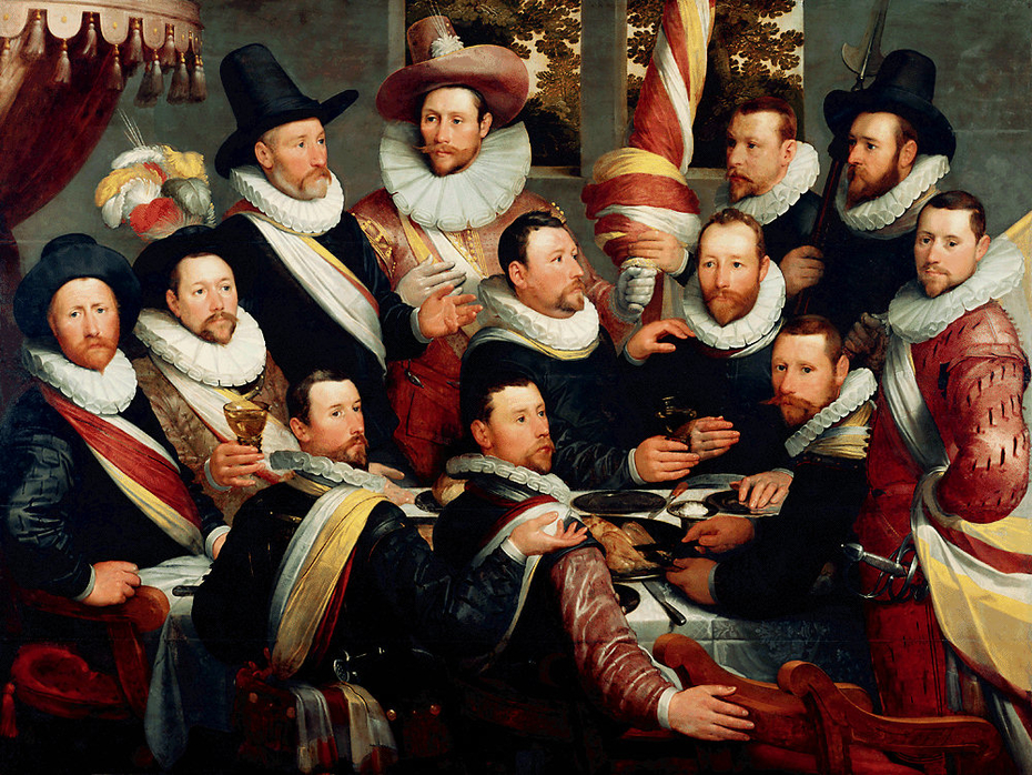 Banquet of the Officers of both companies of the Haarlem Militia 1597-1600