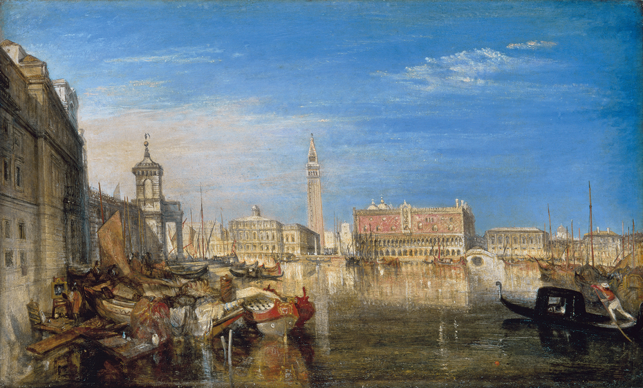 Bridge of Sighs, Ducal Palace and Custom House, Venice: Canaletti painting