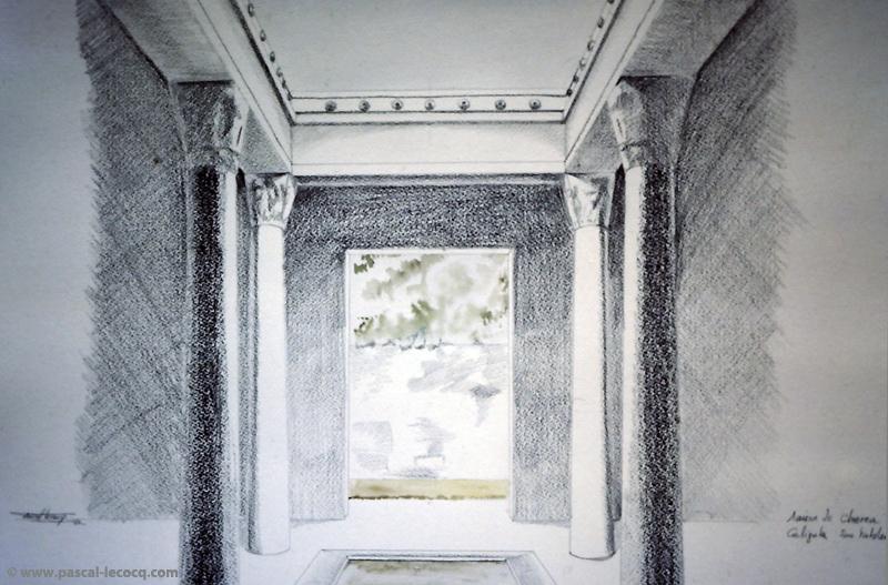 CALIGULA, 2EME TABLEAU MAISON DE CHEREA - by Pascal