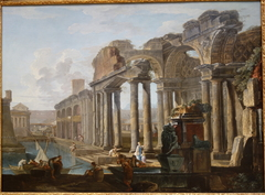 Capriccio of Classical Ruins with Boats