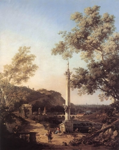 Capriccio: River Landscape with a Column