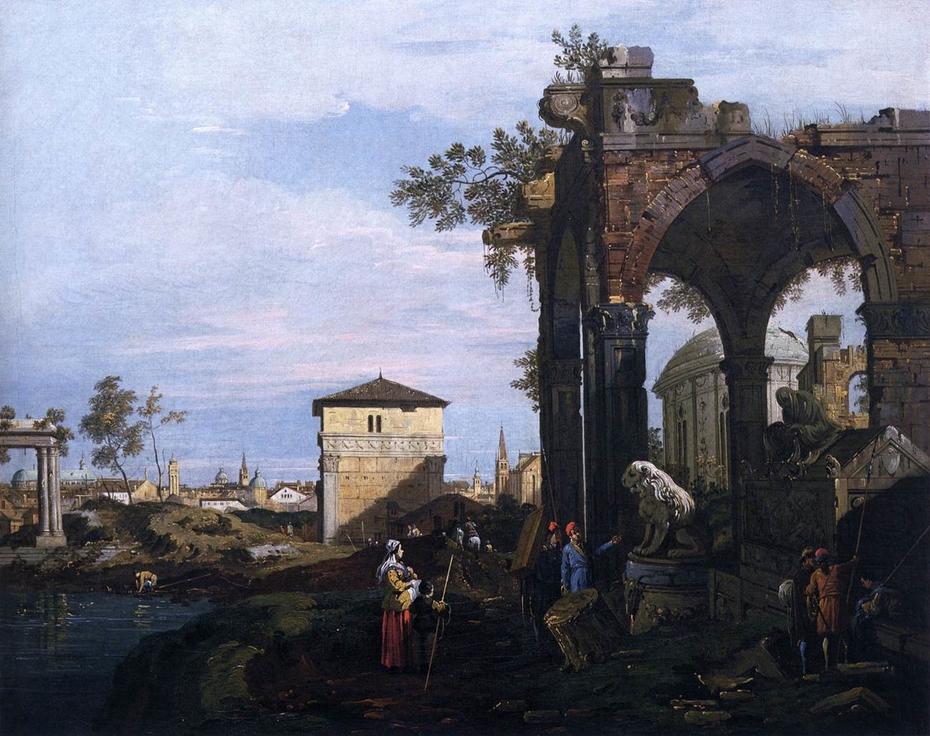 Capriccio with Ruins and Porta Portello, Padua