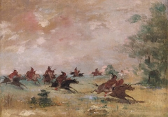 Comanche War Party, Mounted on Wild Horses
