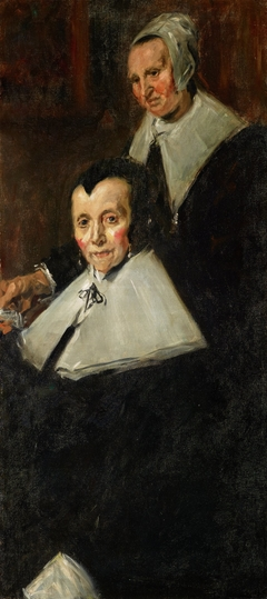 copy of right portion of Hals portrait of The Regentesses of the Old Men's Almshouse Haarlem