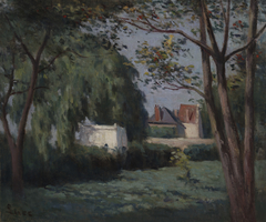Country Scene with Three Houses andTree
