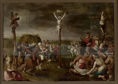 Crucifixion (Matthew 27:35-38; Mark 15:24-28; Luke 23:33; John 19:18-20)