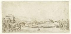 De gestrande potvis te Noordwijk in 1629