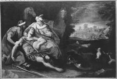 Der verwundete Tancred von Erminia gepflegt