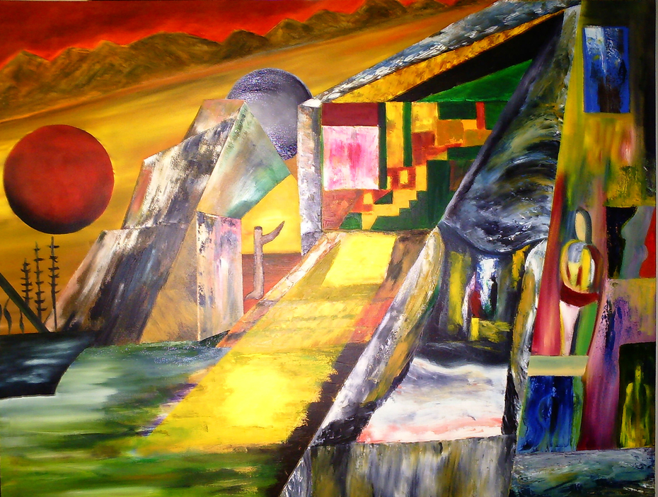 Dream Details./Oil Painting in Canvas./(36x24 Inches)